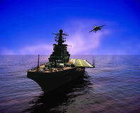 La nave militare Fotografia Stock