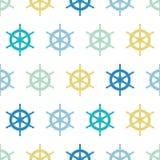 La nave náutica rueda el fondo inconsútil colorido del modelo ilustración del vector
