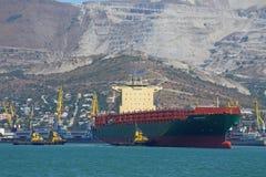 La nave in porto Fotografia Stock