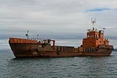 La nave volante di Dutchman.Old, abbandonata dalla sua squadra. Immagine Stock Libera da Diritti