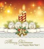 La Navidad 2018 stock de ilustración