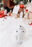 La Navidad, Año Nuevo, bolas rojas de la Navidad Imagen de archivo