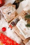 La Navidad, Año Nuevo, bolas rojas de la Navidad Fotografía de archivo libre de regalías