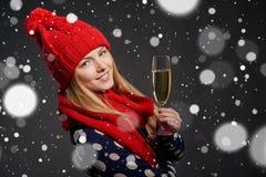 La Navidad, Año Nuevo, concepto de la celebración de las vacaciones de invierno Fotografía de archivo libre de regalías