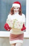 La Navidad, Año Nuevo, conceptos de Navidad y celebraciones Cauc joven Foto de archivo