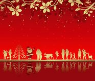 La Navidad abstracta Fotografía de archivo libre de regalías