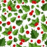 La Navidad abstracta Berry Seamless Pattern de la belleza Imagen de archivo libre de regalías