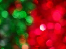 La Navidad abstracta verde roja B Foto de archivo