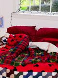 La Navidad adornó el dormitorio Imagen de archivo