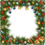 La Navidad adornó el marco Foto de archivo libre de regalías