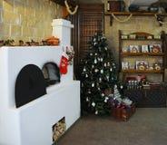 La Navidad adornó el sitio Fotos de archivo