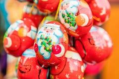 La Navidad adornó los huevos, Praga, República Checa Imágenes de archivo libres de regalías