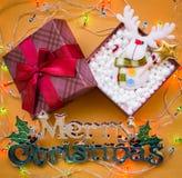 La Navidad adorna el fondo de los ornamentos Imagen de archivo