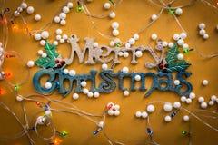 La Navidad adorna el fondo de los ornamentos Foto de archivo libre de regalías