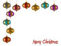 La Navidad adorna el marco Foto de archivo libre de regalías