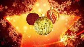 La Navidad adorna el movimiento sutil ilustración del vector