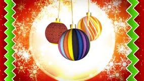 La Navidad adorna el movimiento sutil stock de ilustración