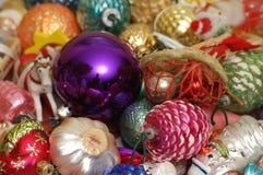La Navidad adorna el surtido Imágenes de archivo libres de regalías