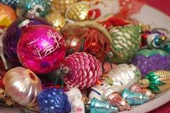 La Navidad adorna el surtido Fotografía de archivo