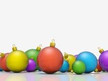 La Navidad adorna fila Imagen de archivo libre de regalías