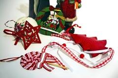 La Navidad adorna la decoración casera Imágenes de archivo libres de regalías