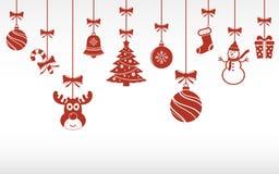 La Navidad adorna la ejecución Foto de archivo libre de regalías