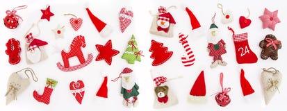 La Navidad adorna las vacaciones de invierno blancas del fondo de la decoración Foto de archivo libre de regalías