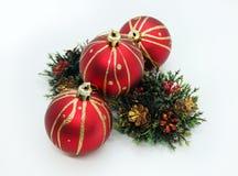 La Navidad adorna listo para adornar una casa imagen de archivo
