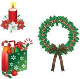 La Navidad adorna vector ilustración del vector