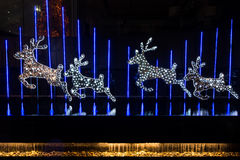 La Navidad adornada con los ciervos Fotografía de archivo