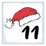 La Navidad Advent Calendar Elementos y números dibujados mano Ilustración del Vector