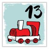 La Navidad Advent Calendar Elementos y números dibujados mano Imagenes de archivo