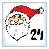 La Navidad Advent Calendar Elementos y números dibujados mano Foto de archivo libre de regalías