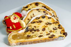 La Navidad alemana stollen Foto de archivo libre de regalías