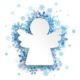 La Navidad Angel Blue Snowflakes libre illustration