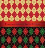 La Navidad Argyle Pattern Design Set inconsútil 2 Fotos de archivo