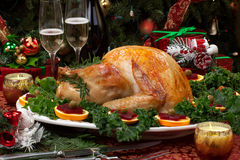 La Navidad asada Turquía Foto de archivo libre de regalías