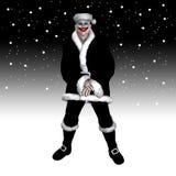 La Navidad asustadiza Santa Imagen de archivo libre de regalías
