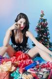 La Navidad atractiva imagen de archivo libre de regalías