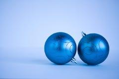 La Navidad azul Imagen de archivo libre de regalías