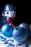 La Navidad azul Imagenes de archivo