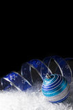 La Navidad azul Fotos de archivo