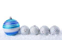 La Navidad azul Fotografía de archivo libre de regalías