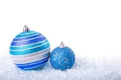 La Navidad azul Fotos de archivo libres de regalías