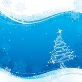 La Navidad azul Foto de archivo libre de regalías