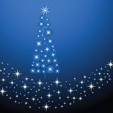 La Navidad azul azul ilustración del vector