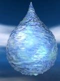 La Navidad azul del ligt del invierno de la gota del agua de hielo burble Fotografía de archivo