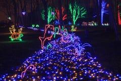 La Navidad azul en el parque regional imágenes de archivo libres de regalías