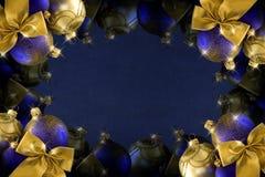 La Navidad azul marino Imágenes de archivo libres de regalías