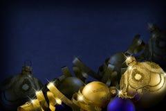 La Navidad azul marino Imagen de archivo libre de regalías